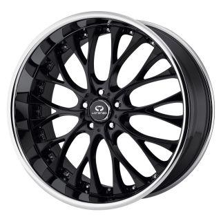 22x8 5 Lorenzo WL27 Black Wheel Rim s 5x114 3 5 114 3 5x4 5 22 8 5