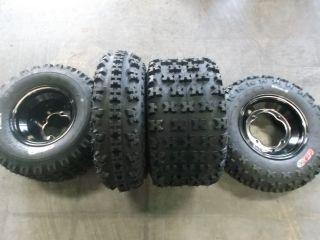 TRX450R TRX 450 Front Rear Black Aluminum Wheels Tires 21x7 10 20x11 9
