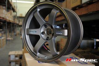 Rays Volk Racing TE37 18x10 5 22mm Offset Bronze 5x114 3 EVO x STI