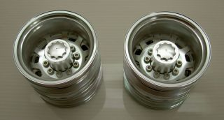 Alloy Tractor Truck Rear Rim Wheel TAMIYA SCANIA R470 R620 MAN TGX