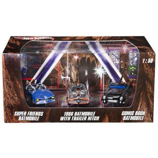 2012 HOT WHEELS BATMAN 3 PACK SUPER FRIENDS BATMOBILE 1966 BATMOBILE