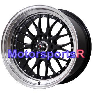 18 x 8 5 10 XXR 521 Black Machine Lip Rims Staggered Wheels Stance