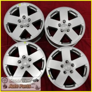 09 10 11 JEEP WRANGLER 18 SILVER TAKE OFF WHEELS OEM FACTORY RIMS 9076