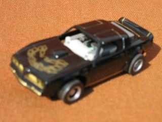 Black Gold Pontiac Firebird HO Slot Car Tyco Chassis