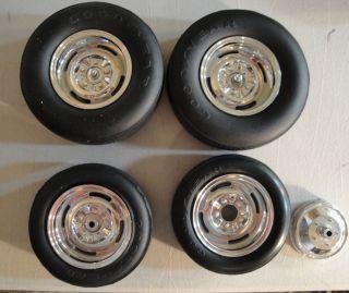 Monogram 1975 Big T Issue Chrome Reverse Wheels Tires
