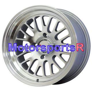 16 16x8 XXR 531 Machine Silver Wheels Rims Deep Dish Lip 4x100 03 06