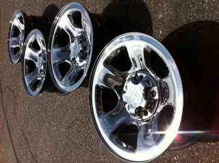 1500 RAM laramie HEMi 4x4 OEM stock FACTORY 17 chrome WHEELS RIMS CAPS