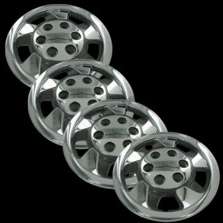 Set of 4 New 17 Chrome Hubcaps Center Hub Caps Wheel Rim Covers Free