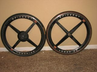 Spinergy Rev x Wheelset 650c Clincher carbon TT Tri Front Rear wheel