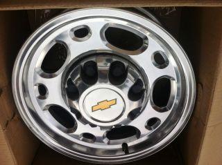 GMC 1500 HD 2500 3500 SRW wheel rim OEM 5079 16x6 5 factory polished