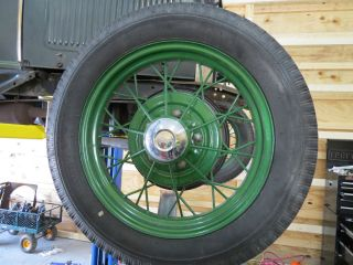 Ford Model A Wheels and Tires Set of 5