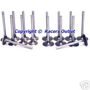 Exhaust Valves bb Chevy 396 402 427 454 bbc Big Block Chevrolet Stock
