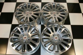 Cadillac cts Factory 18 Polished Wheels Rims 4681 Set of 4