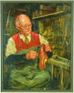 Richard Judson Zolan Occupational Oil Painting British Cobbler