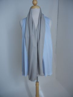 Spring 2011 Karolina Zmarlak Light Blue Beige Gray Silk Drape Edgy