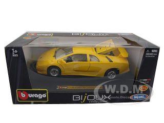 Lamborghini Diablo Yellow 1 24 Diecast Model Car