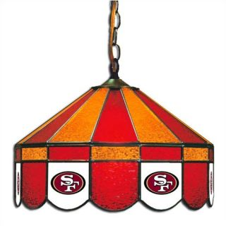 NFL Team Logo Stained Glass Pub Light San Francisco 49ers Swag