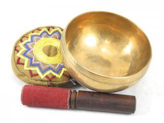 Meditation Grade G Chakra Tibetan Singing Bowl 4 75 G328X Retail $130