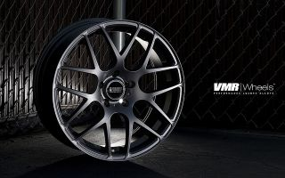 19 VMR V710 Matte Black Wheels Rims Staggered Fit Nissan 350Z 370Z