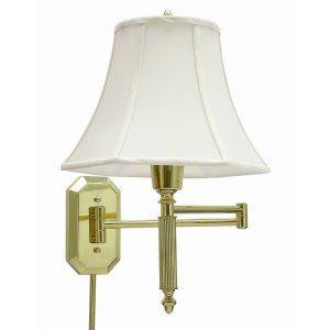 House of Troy HOU WS 706 Universal Wall Swing Polished Brass