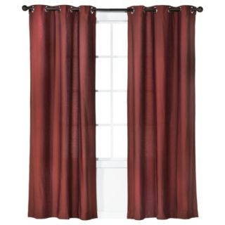 Threshold Grayson Grommet Window Panel Pair   Red (42x95)