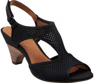 Womens Clarks Evant Julie   Black Nubuck Casual Shoes