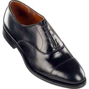 Alden Mens Straight Tip Bal Calfskin Black Shoes   907