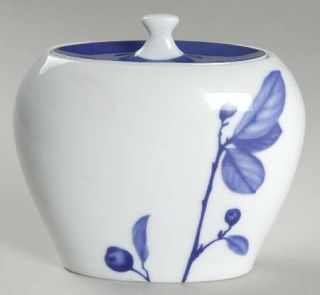 Mikasa True Blue Teapot & Lid, Fine China Dinnerware Blue Leaves ...