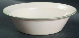 Corning Thymeless Herbs Soup/Cereal Bowl, Fine China Dinnerware   Green Band, Na