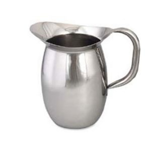 Browne Foodservice Bell Shaped Pitcher, 2 1/8 qt capacity, 18/8 Stainless Steel, Tubular Handle