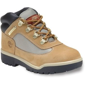 Timberland Kids Field Leather Fabric Boot Toddler Wheat Nubuck Boots   15845