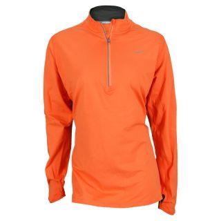 Nike Women`s Extended Element Half Zip Running Top 1X 847_Turf_Orange