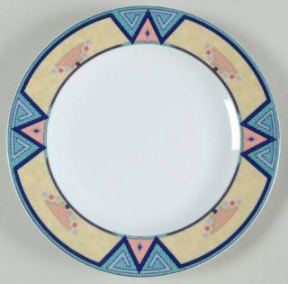 Christopher Stuart Montero Salad Plate, Fine China Dinnerware   Tan Border With