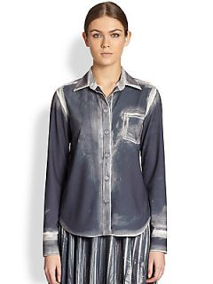 Maison Martin Margiela Burnout Pocket Shirt   Dark Grey
