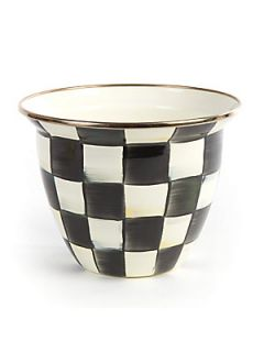 MacKenzie Childs Courtly Check  Enamel Flower Pot   No Color