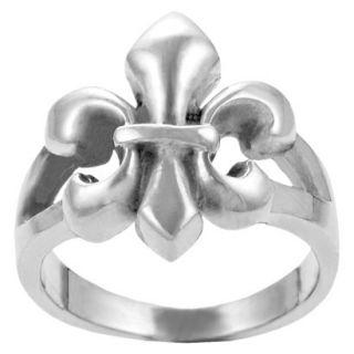 Journee Collection Sterling Silver Fleur de Lis Ring   Silver 9