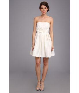 Donna Morgan Strapless Shantung W Belt Dress Womens Dress (White)