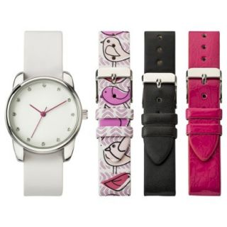 Womens Xhilaration Solid Analog Watch Set with Replacement Straps   Multicolor