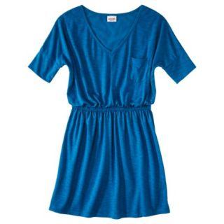 Mossimo Supply Co. Juniors V Neck Elbow Sleeve Dress   Blue Glass Blue S(3 5)