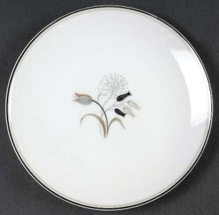 Noritake Jaris Bread & Butter Plate, Fine China Dinnerware   Gray/Taupe/Black Fl