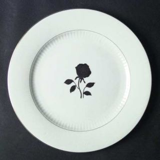 Fine China of Japan Gold Rose Dinner Plate, Fine China Dinnerware   Gold Metalli