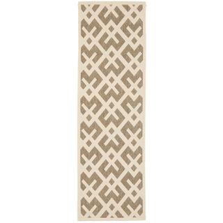 Safavieh Indoor/ Outdoor Courtyard Brown/ Bone Rug (24 X 14)