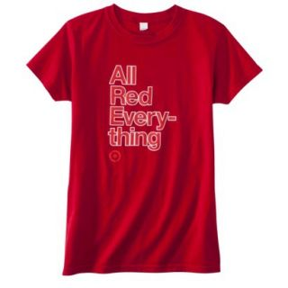 Womens Fitted All Red Everything T Shirt   L