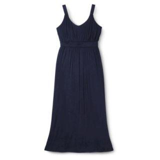 Merona Womens Plus Size Sleeveless V Neck Maxi Dress   Navy 3