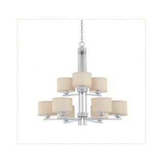 Dolan Designs Tecido 9 Light Chandelier 2942 09 / 2942 34 Finish: Satin Nickel