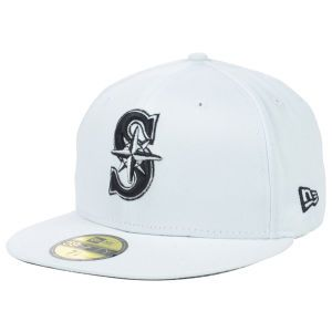 Seattle Mariners New Era MLB White And Black 59FIFTY Cap