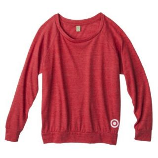 Womens Jersey Slouchy Red Pullover   S