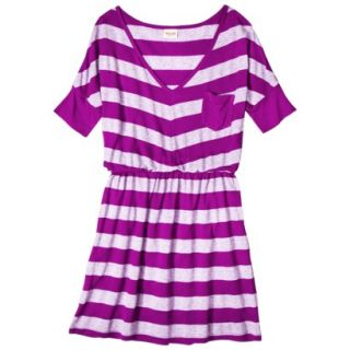 Mossimo Supply Co. Juniors V Neck Elbow Sleeve Dress   Violet L(11 13)