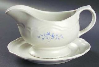 Pfaltzgraff Poetry Matte Gravy Boat & Underplate (Salad Plate), Fine China Dinne