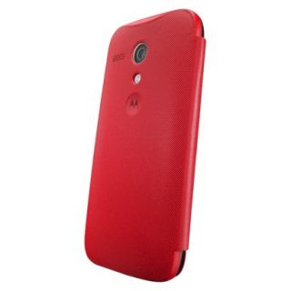 Motorola Flip Shell for Moto G Cell Phone Case   Red (ASMFLPCVRE)